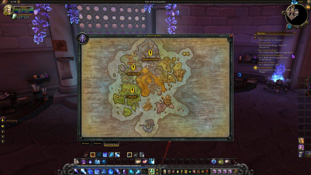 Zonele de leveling din Legion